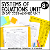 8th Grade Math Systems of Equations Unit: 8.EE.8