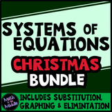 Systems of Equations Christmas Math Bundle