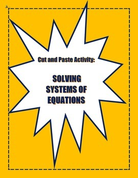 Systems of Equations Activity