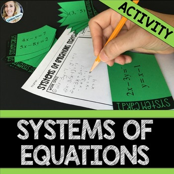 Systems of Equations Matching Activity