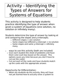 Systems of Equations Activity - One Solution, No Solution,