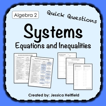 Systems of Equations Activity: Fix Common Mistakes!