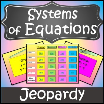 Solving Systems of Equations Activity{Systems of Equations Activity}Algebra Game