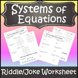 Systems of Equations Activity {Solving Systems of Equations Activity}