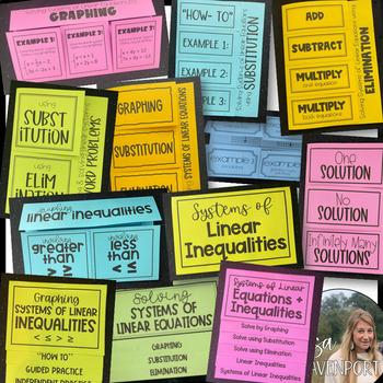 Systems of Equations (Algebra Foldable Bundle)