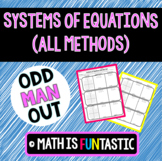 Systems of Equations (All Methods) Odd Man Out