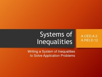 Systems of Inequalities Applications