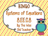 Systems of Equations Bingo Game PowerPoint with Blank Bingo Cards 8.EE.C.8