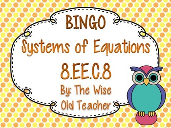 Systems of Equations Bingo Game PowerPoint with Blank Bing