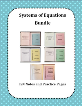 Systems of Equations BUNDLE (Foldables)
