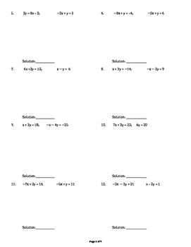 Systems of Equations By Substituion