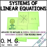 Systems of Equations Card Game | Distance Learning