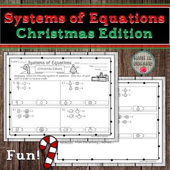 Systems of Equations (Christmas Edition)