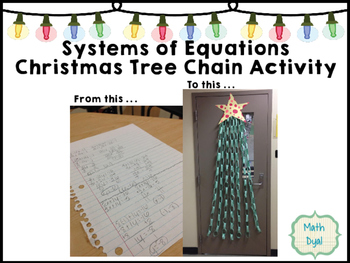 Systems of Equations Christmas Tree Chain Activity