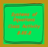 8.EE.8 Systems of Equations Class Activity