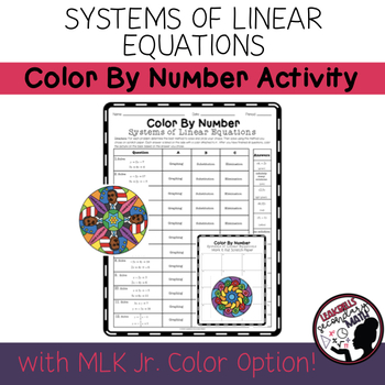 Systems of Equations | Color By Number