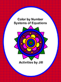Systems of Equations Color by Number (Distance Learning)