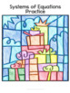 Systems of Equations Coloring By Number Christmas Math Activity