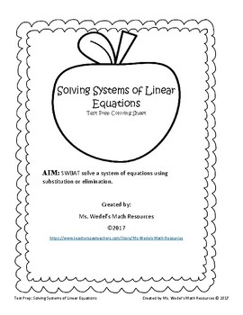 Systems of Equations Coloring Sheet
