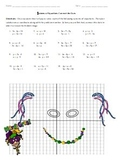 Systems of Equations Connect the Dots - Mardi Gras Mask