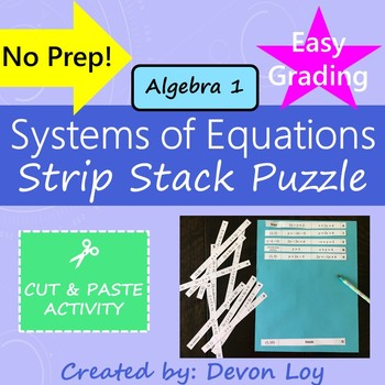 Systems of Equations: Cut & Paste Activity