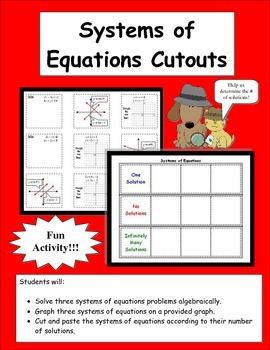 Systems of Equations Cutouts