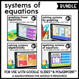 Systems of Equations Digital Math Activity Bundle | 8th Gr