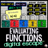Evaluating Functions Digital Math Escape Room
