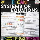 8th Grade Systems of Equations Game 8th Grade Math Review