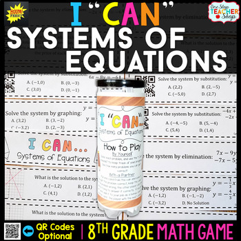 Systems of Equations Eighth Grade Math Game
