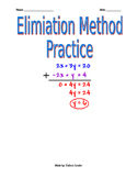 Systems of Equations Elimination Method