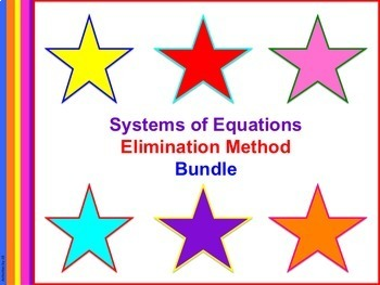 Systems of Equations: Elimination Method Bundle