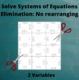 Systems of Equations: Elimination Method Puzzle 1