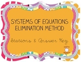 Systems of Equations - Elimination Method STATIONS #1
