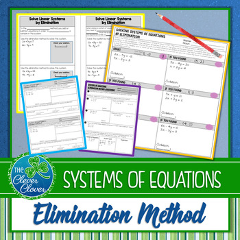 Systems of Equations by Elimination - Scavenger Hunt