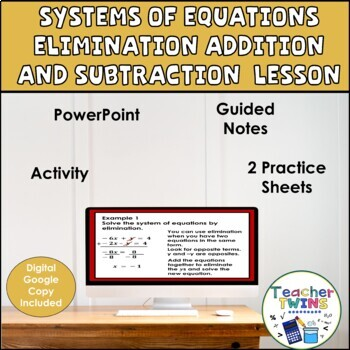 Systems of Equations Elimination Multiplication Algebra Lesson
