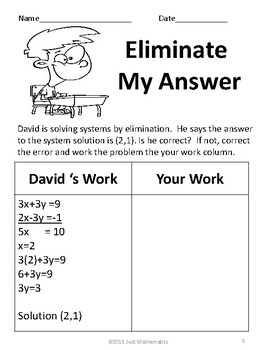 Systems of Equations Error Analysis