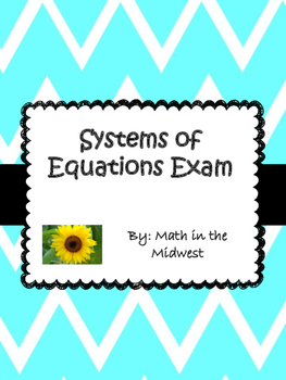 Systems of Equations Exams 8.EE.8