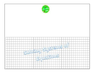 Systems of Equations Flipbook
