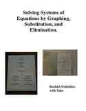 Systems of Equations Foldable Booklets with Tabs