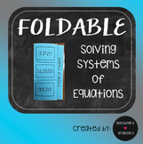 Systems of Equations Foldable Graphic Organizer TEK A.5C A.3F