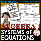 Solving Systems of Linear Equations Notes Foldable