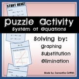 Systems of Equations Puzzle Activity