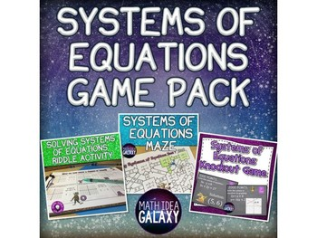 Systems of Equations Game Bundle