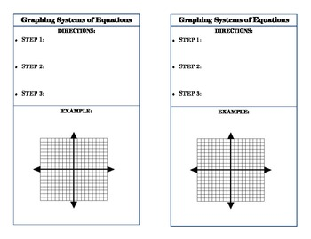 Systems of Equations Graphic Organizer