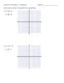 Systems of Equations - Graphing