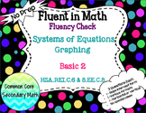 Systems of Equations Graphing Basic Level 2 : No Prep Fluent in Math Series