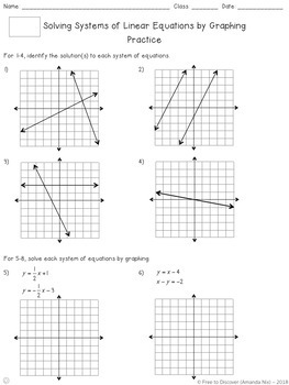 Systems of Equations (Graphing) Notes and Practice (Differentiated)