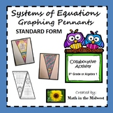 Systems of Equations Pennant {Graphing in Standard Form}