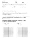 Systems of Equations Graphing Quizzes (2 versions)